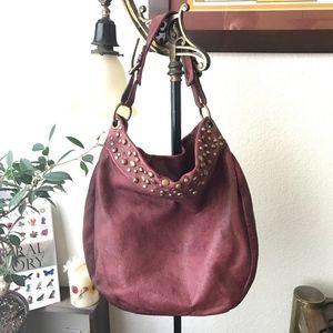Vera Pelle Italian Leather Wine Red Bag